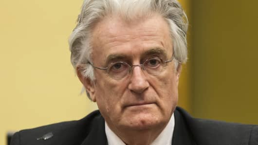 Bosnian Serb wartime leader Radovan Karadzic