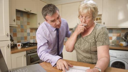 Financial advisor with senior woman