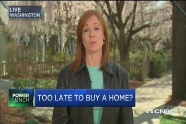 Too late to buy a home?