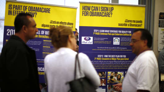 Obamacare health insurance enrollment
