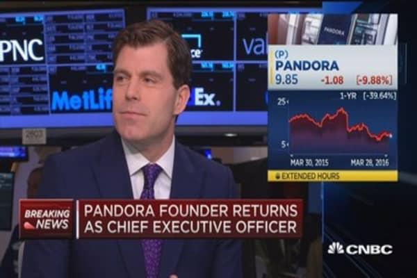 Pandora shares slide as CEO departs
