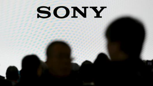 The Sony Cooperation logo is seen at a trade fair in Yokohama, Japan, February 25, 2016.