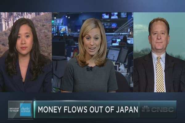 Money flows out of Japan trade