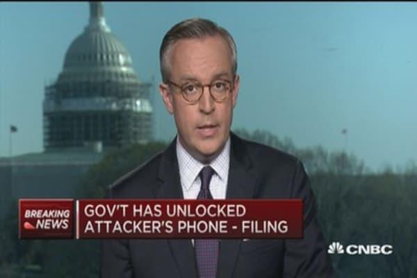 Gov't has unlocked attacker's phone - Filing