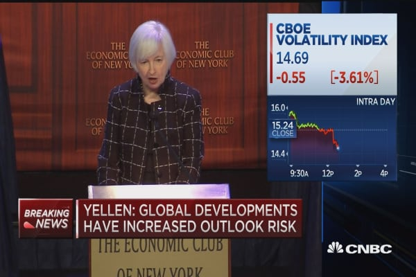 Yellen: Global developments pose ongoing risks