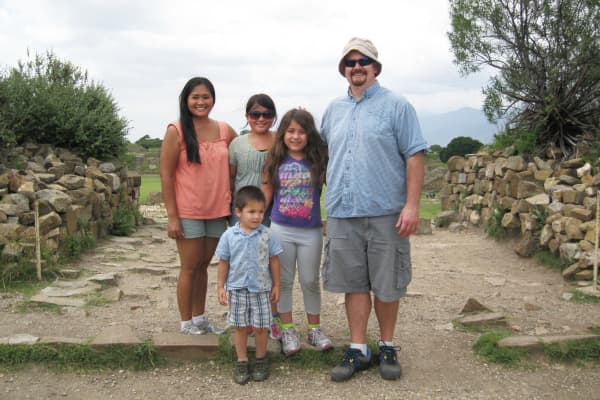 Justin McCurry with family on vacation in Mexico.