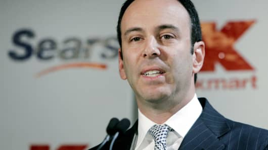 Edward S. Lampert speaks at a news conference in New York in this November 17, 2004 file photo.