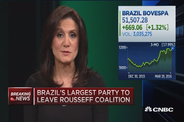 Brazil's largest party to leave Rousseff coalition