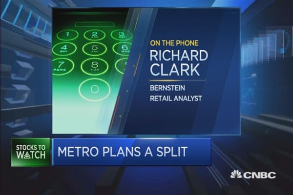 Metro split plans is a 'logical step': Analyst