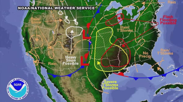 Spring storm to hit Central US