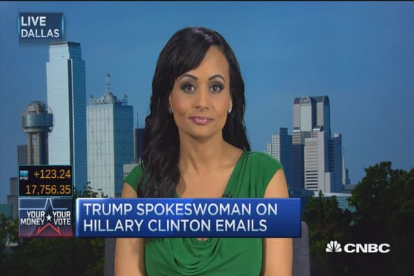 Trump spokeswoman on campaign manager charges