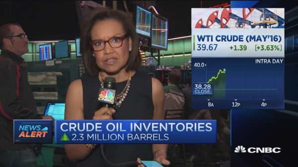 Bullish crude oil inventories