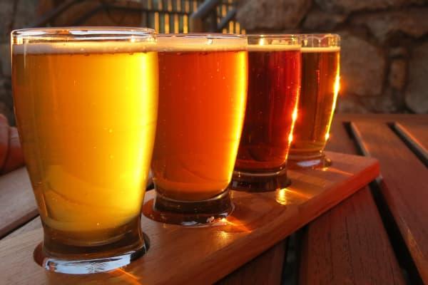 Craft Brewery flight