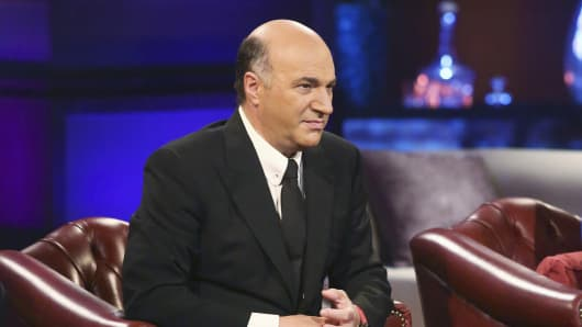 Kevin O'Leary on the set of 'Shark Tank'