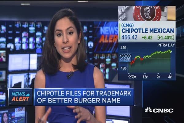 Chipotle files for Better Burger name trademark