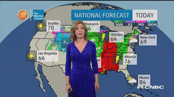 Severe weather from Gulf Coast to Midwest