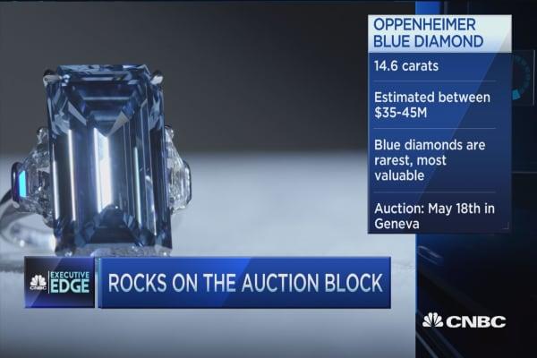 'Oppenheimer Blue' diamond on the auction block