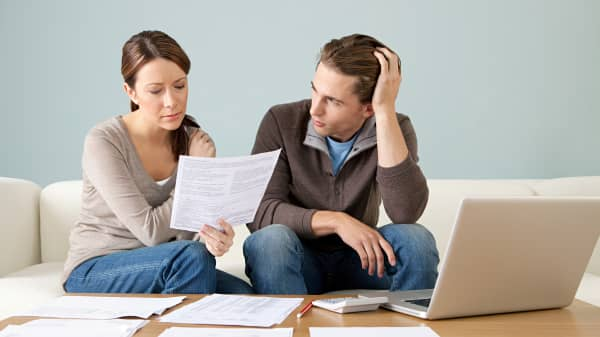 Couple with financial stress