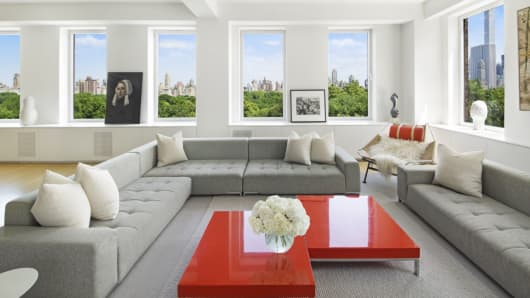 This apartment, at 101 Central Park West, was the most expensive sale recorded for Manhattan during the first quarter, at $35.3 million.