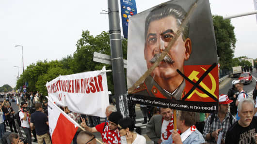 Anti-Communist sentiment is widespread in Poland.