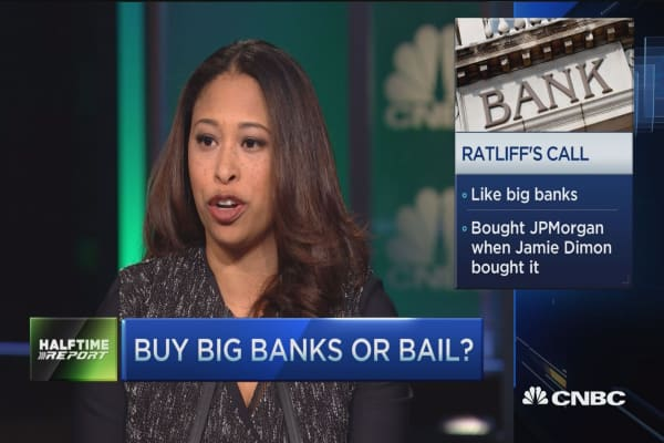 Buy big banks or bail?