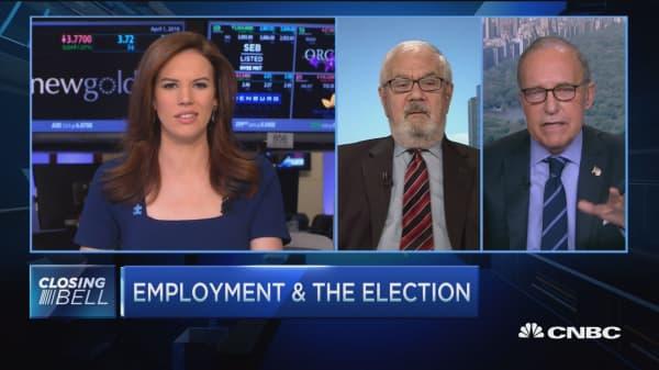 Kudlow on jobs report reax and politics
