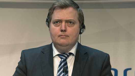 Icelandic Prime Minister Sigmundur David Gunnlaugsson, pictured during a 2015 Nordic meeting, is facing calls for resignation after it was revealed he had undeclared millions in an offshore company.