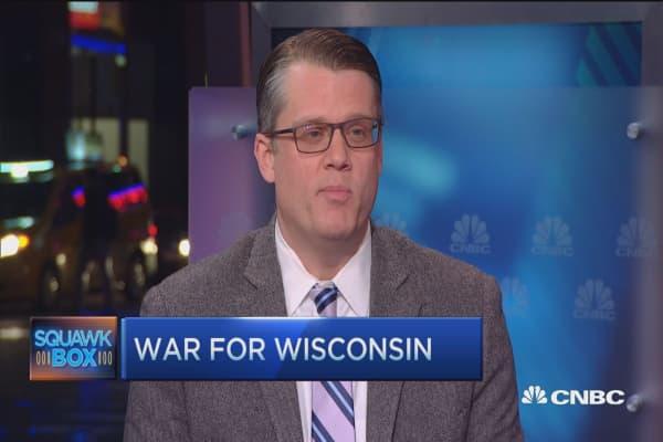 Political war for Wisconsin
