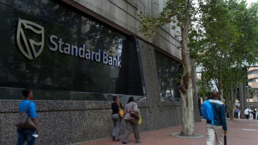 The headquarters of Standard Bank in South Africa