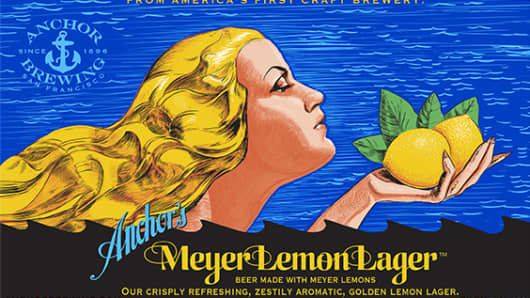 Anchor Meyer Lemon Lager by Anchor Brewing