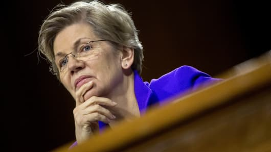 Senator Elizabeth Warren, a Democrat from Massachusetts.