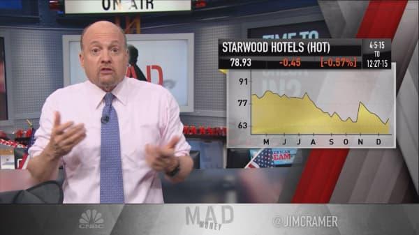 Cramer: HOT bidding war means hotel revaluation