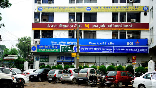 Branches of Bank Of India , PNB Bank , State Bank Of Bikaner & Jaipur and State Bank Of India in Patna, India