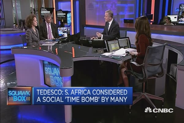 South African uncertainty may continue: Tedesco