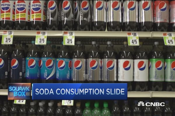 Soda consumption fizzles in US