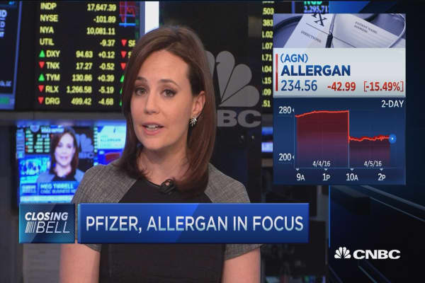 Pro: Treasury, IRS seem to be targeting AGN-PFE deal