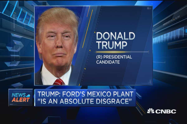 Trump: Ford's Mexico plant 'an absolute disgrace'