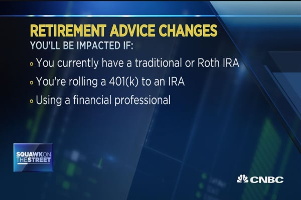 Dept. of Labor changes retirement advice