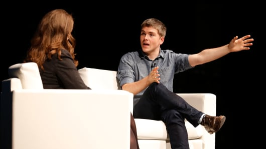 John Collison, co-founder and president of Stripe, at the iCONIC conference in Seattle on April 5, 2016