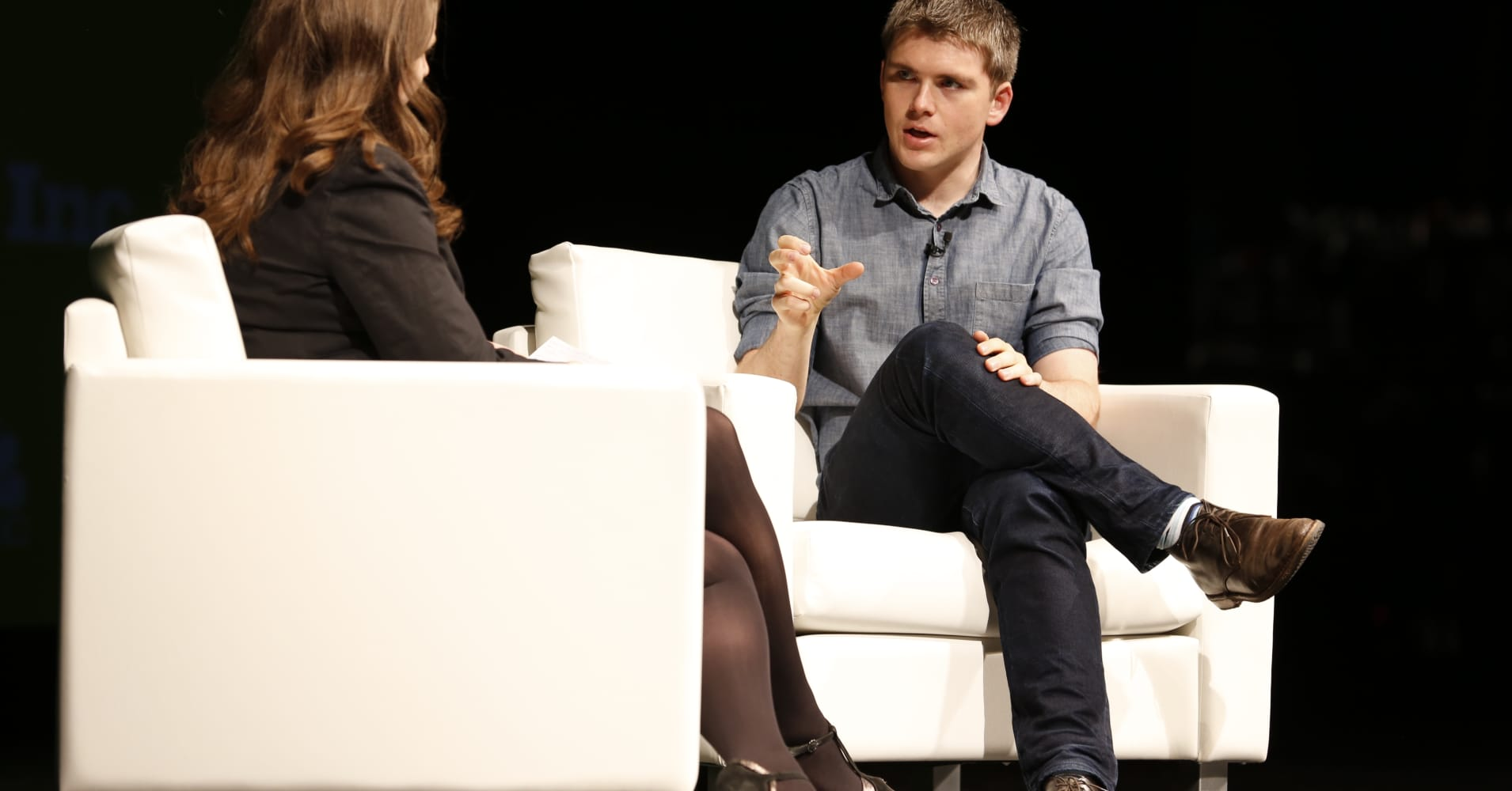 John Collison, President & Co-founder of Stripe, at the iConic:Seattle conference on April 5, 2016.