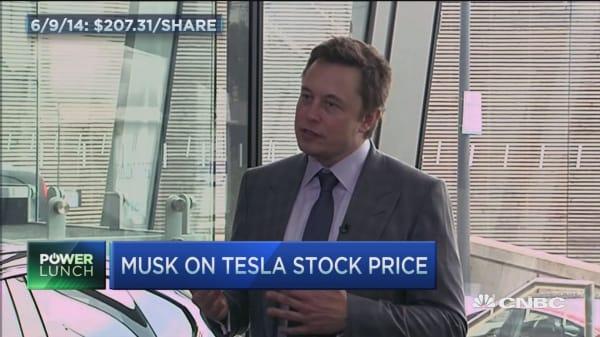 Elon Musk: 'Probably unwise' to short Tesla stock