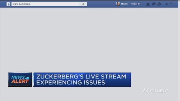 Facebook's live stream experiences issues