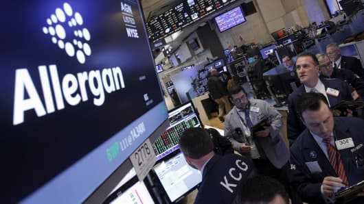 Allergan in the NYSE