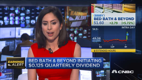 Strong beats for Bed Bath & Beyond