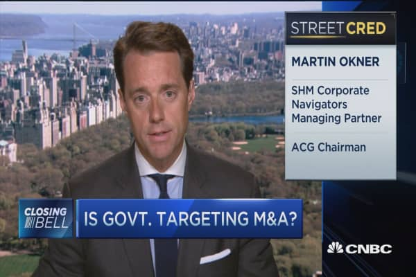Is the government targeting M&A?