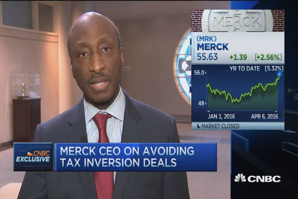 Merck CEO: Current tax system makes US companies uncompetitive