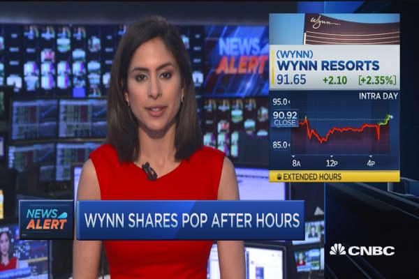 Wynn: Same views on China as Disney's Iger