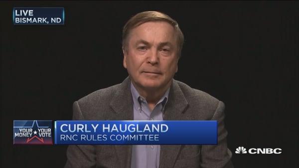 Curly Haugland: Unbound RNC delegate