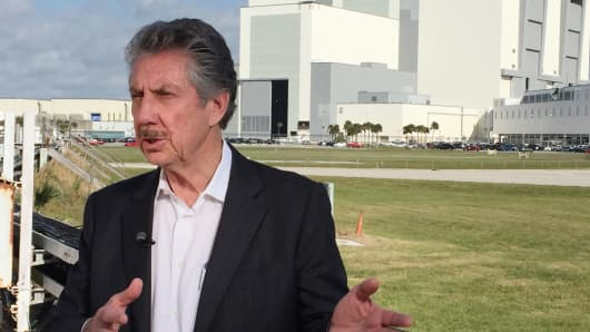 Robert Bigelow, founder of Bigelow Aerospace at Kennedy Space Station in Cape Canaveral, Fla.