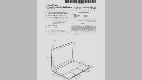 Apple files keyless keyboard patent